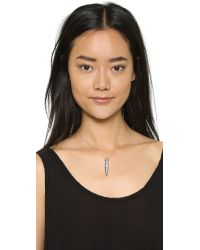 Lulu Frost - Metallic Datura Pendant Necklace - Clear/gold - Lyst