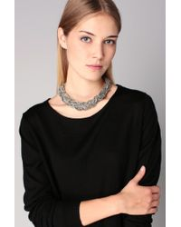 Pieces | Gray Necklace / Longcollar | Lyst