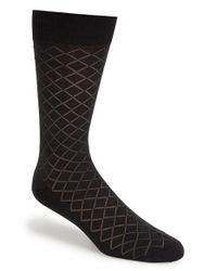 Canali - Gray Diamond Grid Socks for Men - Lyst