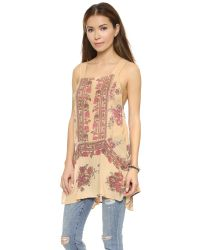 Free People - Multicolor Tree Swing Tunic - Light Stone - Lyst