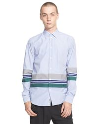 WOOD WOOD - Blue 'desmond' Bengal Stripe Shirt for Men - Lyst