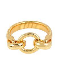 Diane von Furstenberg | Metallic All The Glitz Omega D Ring Bangle Bracelet | Lyst