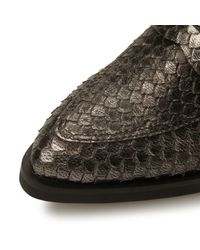 Dune Black - Metallic Finnley Pointed Penny Loafer - Lyst