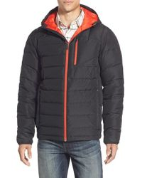 Spyder | Black 'dolomite' Hooded Down Jacket for Men | Lyst