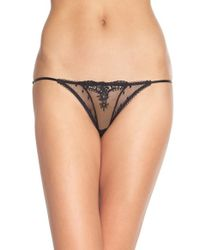Free People - Black String Bikini Briefs - Lyst