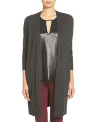 Trouvé | Gray Long Open Front Cardigan | Lyst