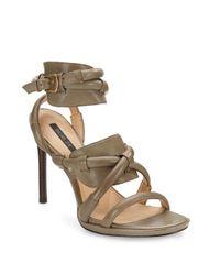 Rachel Zoe - Green Monica Ankle-Strap Sandals - Lyst
