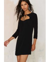 Nasty Gal - Tied You Over Mini Dress - Black - Lyst