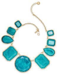 kate spade new york | Blue Gold-Tone Turquoise-Colored Stone All-Around Statement Necklace | Lyst