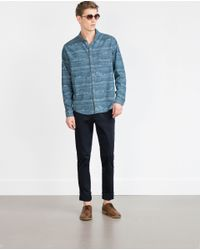 Zara | Blue Chinos for Men | Lyst