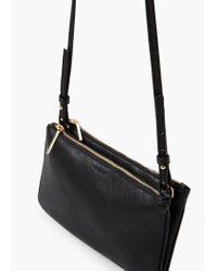 Mango - Black Double Compartment Cross Body Bag - Lyst