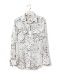 Banana Republic - Natural Heritage Branch-print Military Shirt - Lyst