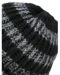 Paul Smith - Black Striped Beanie for Men - Lyst