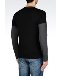 Armani Jeans | Black T-Shirt In Cotton Jersey for Men | Lyst