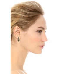 Joanna Laura Constantine - Crystal Wing Earrings - Black/clear - Lyst
