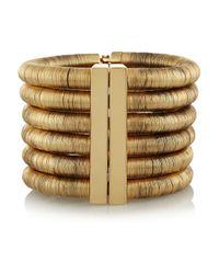 Balmain - Metallic Goldplated Bracelet - Lyst