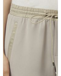 Vince - Natural Drawstring Jogger With Satin Detail - Lyst