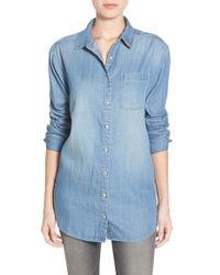 Caslon | Blue Boyfriend Shirt | Lyst