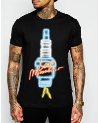 Love Moschino - Black Electricity T-shirt for Men - Lyst