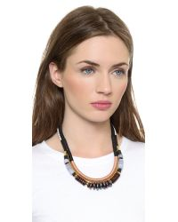 Lizzie Fortunato - The Working Uniform Ii Necklace - Black/Tan - Lyst