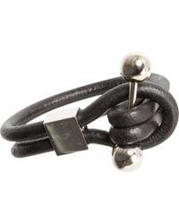 Givenchy - Black Studpiercing Leather Bracelet for Men - Lyst