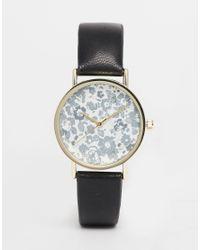 ASOS | Metallic Floral Print Watch for Men | Lyst