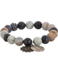 Miracle Icons | Gray Picasso Jasper Charm Bracelet for Men | Lyst