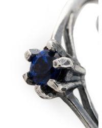 Puro Iosselliani | Metallic Saphire Chain Ring | Lyst