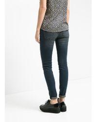 Mango - Blue Skinny Olivia Jeans - Lyst
