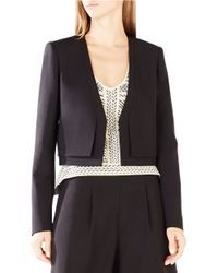 BCBGMAXAZRIA | Black Pierre Double-layer Blazer | Lyst