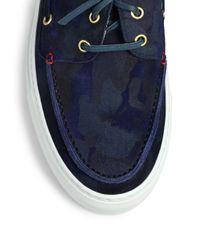 Del Toro - Blue Suede Boat Shoe Sneakers for Men - Lyst