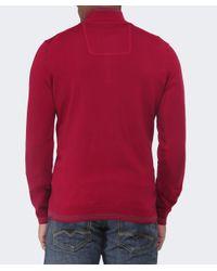 BOSS Green - Red Funnel Neck Zime Jumper for Men - Lyst