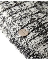 Yves Salomon | Gray Salt And Pepper Fur Bobble Beanie Hat | Lyst