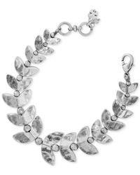 Lucky Brand - Metallic Silver-tone Fish Bone Bracelet - Lyst