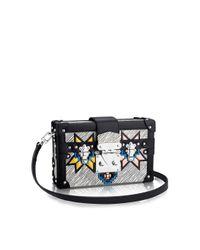 Louis Vuitton | Black Petite Malle Azteque-Leather Box Bag | Lyst