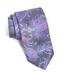 David Donahue - Multicolor Paisley Silk Tie for Men - Lyst