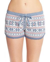 Pj Salvage - Blue Thermal Crochet Trim Short - Lyst