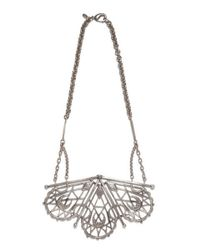 Bing Bang | Metallic Sacred Geometry Fan Necklace | Lyst
