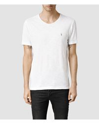 AllSaints | White Henning U-scoop T-shirt for Men | Lyst