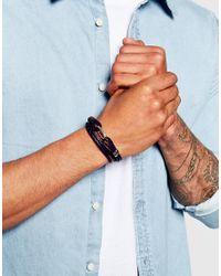 Paul Smith | Blue Leather Wraparound Bracelet for Men | Lyst