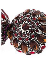 Lanvin - Red Tassel Clip-on Earrings - Lyst