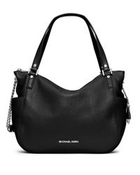 MICHAEL Michael Kors | Black Chandler Leather Large Convertible Shoulder Bag | Lyst