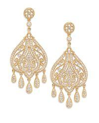 Adriana Orsini | Metallic Filigree Chandelier Earrings/gold | Lyst