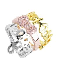 Noir Jewelry - Multicolor Hello Kitty Stackable Ring Set - Lyst