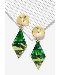 Nasty Gal | Green Boa Drop Earrings | Lyst