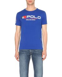 Ralph Lauren | Blue Cotton-jersey T-shirt for Men | Lyst