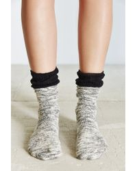 Urban Outfitters | Black Crochet Cuff Slouchy Sock | Lyst
