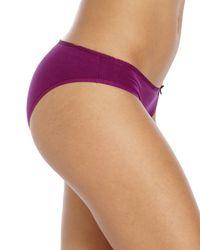 St. Eve - Purple Ruffle Trim Bikini Panty - Lyst