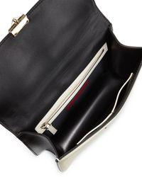 Valentino - Black Mini Lock Bi-Color Leather Shoulder Bag - Lyst