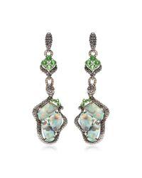 Wendy Yue | Green One Of A Kind Organic Opal Chandelier Earrings | Lyst